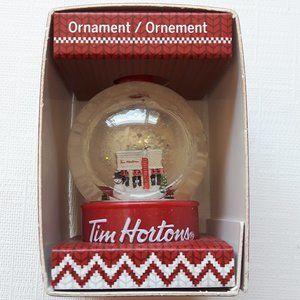 Tim Horton's Snow Globe Ornament 2015 NIB